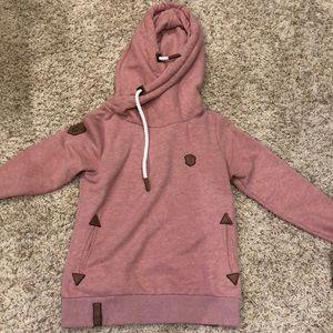 Pink Naketano sweatshirt in grain condition!